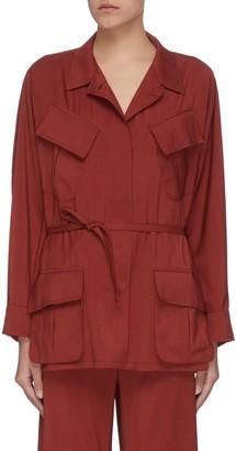 Barena 'Vanna' slanted pocket virgin wool cargo jacket