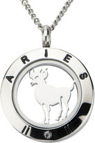 JCPenney FINE JEWELRY Aries Zodiac Cubic Zirconia Stainless Steel Locket Pendant Necklace