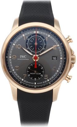 IWC Grey 18K Rose Gold Portugieser Yacht Club Chronograph IW3905-05 Men's Wristwatch 43.5 MM