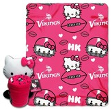 Hello Kitty NFL Vikings Blanket and Hugger Bundle (40 x 50)