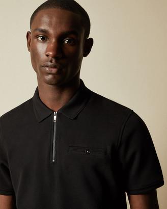 Ted Baker DODGEM Short sleeved zip polo shirt