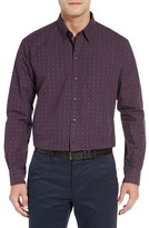 Cutter & Buck Men's Orchard Jacquard Check Sport Shirt