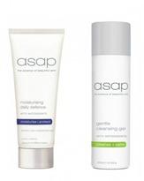 Asap Gentle Cleansing Gel 200ml + Moisturising Daily Defence SPF50+ (100ml)