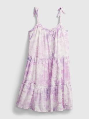 Gap Kids Tie-Dye Tiered Midi Dress
