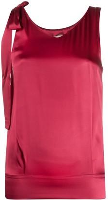 Semi-Couture tied-straps V-neck top