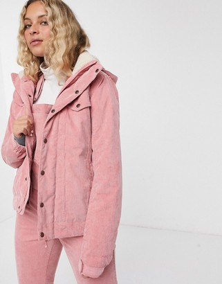 Protest Cutie cord jacket in pink