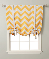 Best Home Fashion Yellow Chevron Room-Darkening Tie-Up Roman Shade