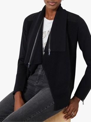 Mint Velvet Short Cardigan, Black