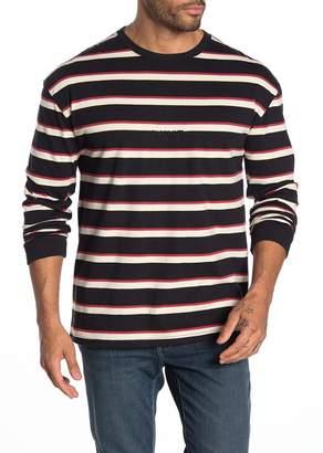 Globe Long Sleeve Stripe Knit T-shirt