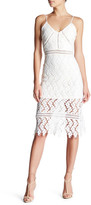 Endless Rose Sleeveless V-Neck Lace Midi Dress