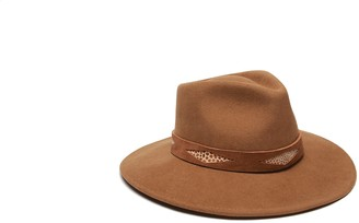 Ale By Alessandra Women's Cobra Adjustable Felt Hat with Suede Trim