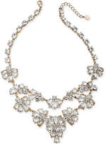 "Charter Club Gold-Tone Dramatic Crystal Necklace, 17"" + 2"" Extender, Created for Macy's"