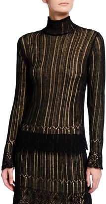 Vince Ladder Stitch Turtleneck Sweater
