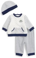Little Me Infant Boy's Dino Hoodie & Footed Pants Set