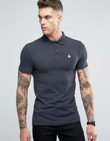Asos Extreme Muscle Polo Shirt In Gray With Logo