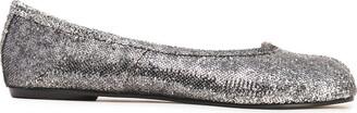Maison Margiela Tabi Sequined Leather Ballet Flats
