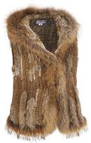 Wilsons Leather Womens Hooded Fur Vest