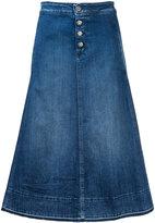Closed flared midi denim skirt - women - Cotton/Spandex/Elastane - 27