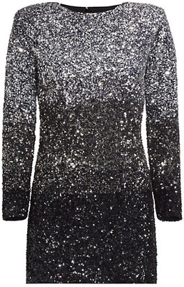 retrofete Nikki Tri-Tone Sequin Dress