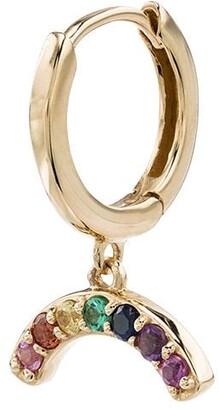 Andrea Fohrman Rainbow Sapphire Hoop Single Earring