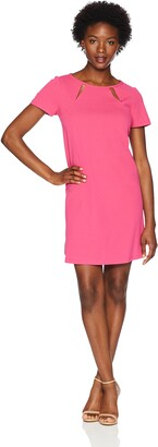 Tiana B T I A N A B. Women's Petite Cut Out Neck Jersey Trapeze Dress