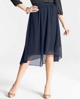 Ann Taylor Chiffon High Low Hem Skirt