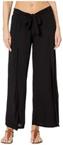 Becca by Rebecca Virtue Modern Muse Crinkled Rayon Mock Wrap Pants Cover-Up (Black) Women's Swimwear