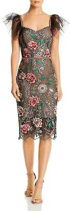Bronx AND BANCO Melia Floral-Embroidered Illusion Dress