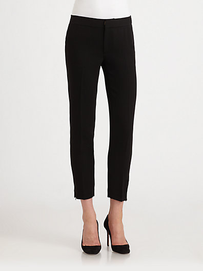 Marc by Marc Jacobs Black Sparks Cropped Crepe Skinny Pants