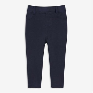 Joe Fresh Baby Girls Knit Pant, Dark Blue (Size 3-6)
