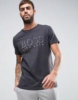 Boss By Hugo Boss Logo Lounge T-shirt In Regular Fit Grey