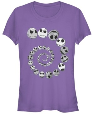 Fifth Sun Women's Nightmare Before Christmas Jack Emotions Spiral Short Sleeve T-shirt
