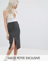 Asos Color Block Stripe Pencil Dress
