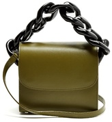 Marques Almeida Oversized curb-chain leather shoulder bag
