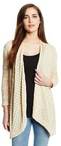 Catherine Malandrino Women's Mixed Pointelle Cardigan