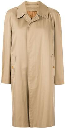 Burberry Pre Owned Straight Midi Rain Coat