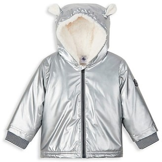 Petit Bateau Baby Girl's Metallic Animal Ears Jacket