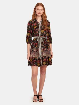 Saloni Tyra Silk Mini Dress