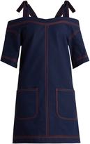 MSGM Cold-shoulder cotton dress
