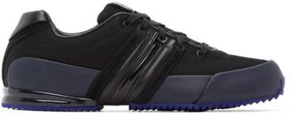 Y-3 Black and Navy Sprint Sneakers