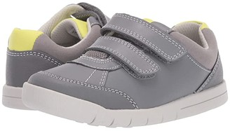 Clarks Emery Sky (Toddler) (Grey Leather) Boy's Shoes