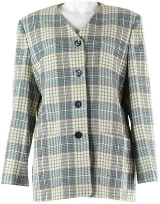 Jaeger Green Wool Jacket for Women Vintage