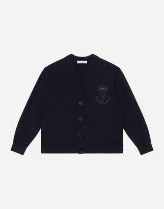 Dolce & Gabbana Cotton Cardigan With Heritage Embroidery