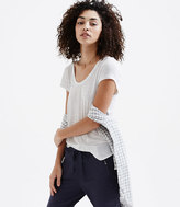 LOFT Lou & Grey Striped Featherweight Modal Tee