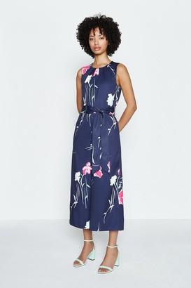Coast Floral Printed Tie Waist Crop Jumpsuit
