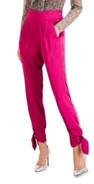 INC International Concepts Inc Satin Tie-Bottom Pants, Created for Macy's