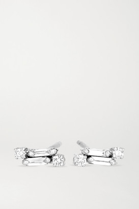 Suzanne Kalan 18-karat White Gold Diamond Earrings