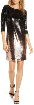 BB Dakota You Stay Ombre Sequin Dress