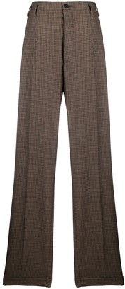 Maison Margiela Houndstooth Print Wool Trousers