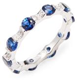 Rina Limor Fine Jewelry Diamond & Blue Sapphire Eternity Ring